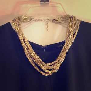 LOFT gold-colored beaded necklace